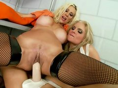 Whore Puma Swede rides Phoenix Marie's huge toy