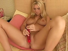 Alison Angelm plays with her New sex-toy