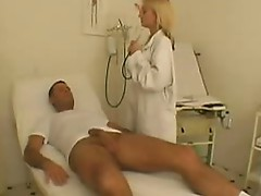 Nasty Blonde enjoys clinic fuck