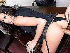 Nasty milf Kayla carerra office sex