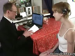 Old teacher shows his method of teaching