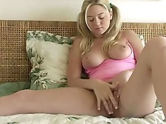 Alison Angel plays with her love tunnel