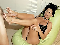 High heels foot loving
