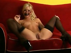 Aaliyah Love putting all her panty inside her slit