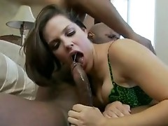 Dong choking doxy Bobbi Starr receives her Mouth ripped by a Monster pecker