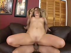 Fuck loving Harmony Rose sliding her steamy gap on her Man's erect knob
