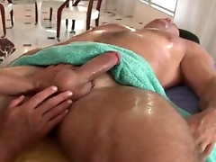 Lucky dude gets amazing massage