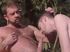 Will West, Brian Austin and Rick Leon outdoor gay
