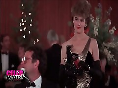 Sean Young MAking out with a guy in a car with her nipple pops out of her dress. then Sean young rEmoving her fur coat, turning around to reveal her b
