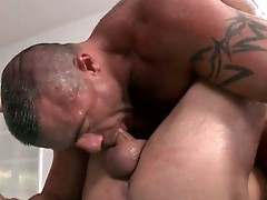 Tattooed guy ride cock good