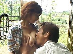 Chisato Shouda Asian mature chick gets sucked
