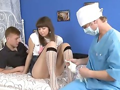 Threesome defloration with sweet Franceska.