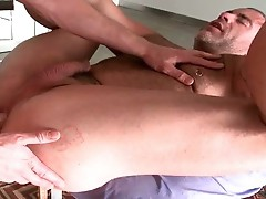 Blond cutie fucks his massage pro