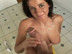 Penis Starved floozy Anna Nikova loads her Mouth with a Mgazooive errect pecker