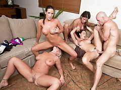 Chanel Preston and Hunter Bryce and Kortney Kane and Sadie Swede porn