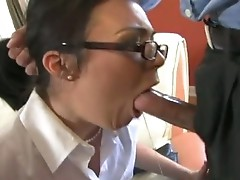 Hot and nerdy Ashley Blue eagerly takes a long knob in that ladr wet Mouth