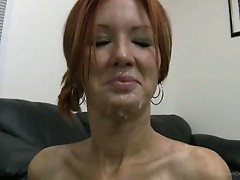 Taking it up her gaping ass and swallowing sperm