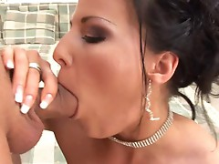 Dark hair doxy acquires her bublle but banged really hard