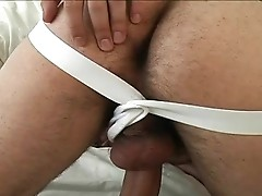 Hot Franky jerking off his hard straight cock