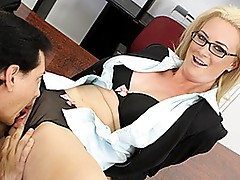Hawt and Horny milf Cameron copulates worker