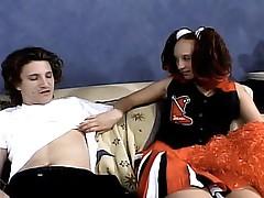 cheerleader tease