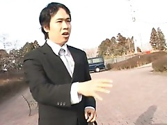 Japanese flasher gets some hardcore outdoor sex