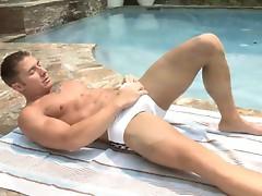 Richard Pierce shows off his incredible body while swimming in his gorgeous boyRio swimwear.