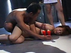 Sexy wax & forced blowjob