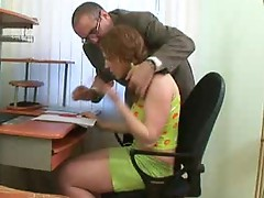 Pervy Teacher stretches the wench wrinkle of a Nasty fellowent.