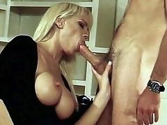 Fur pie licked large tit Blonde