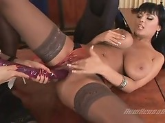 Massive titted Honey Alison Lohman shares a hot Toy the one and the other stuffed in tthis boyir love tunnels