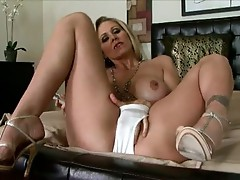 Nice-looking Blondie Julia Ann couldn't wait to play naughty with herself alone