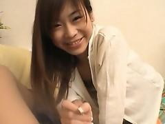 Ami Hinata sweet Asian schoolgirl enjoys cocksucking