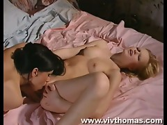 Hot blonde bitches in hardcore lesbian fuck