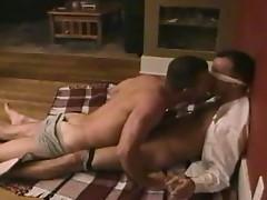 Bareback loving muscled gay studs nasty anal whacking encounter