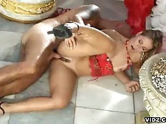 Beautiful blonde seduces rigid angry cock in hardcore outdoor