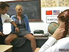 Young student watches teacher fuck in the conference