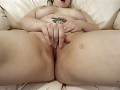 Big busty girl sucks and fucks a large cock