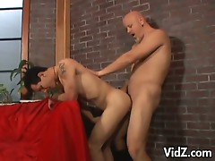 Young tattooed gay dude takes cock deep in tight ass