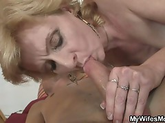 Dude fucks nasty mature mother in low after a great blowjob