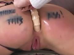 Sexy slut get hardcore fuck by two big cocks