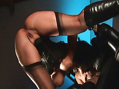 Bad girls have some fetish-fun in the dungeon