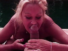 Blond mature doctor humping