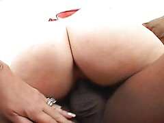 Hot short haired blonde rides cock