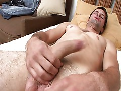 Tall guy masturbating