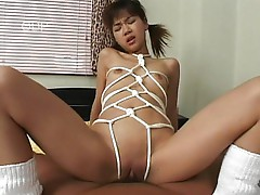 Young schoolgirl bound and fucked