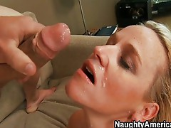 Angry MILF is calmed by cock pounding