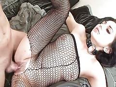 Cloth freak works horny pussy