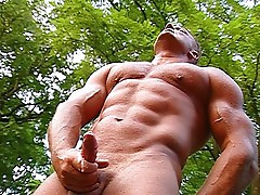 Guys show some muscle in the woods