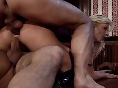 Vivian Schmitt fucked by two bad boys